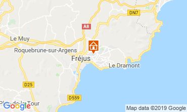Map Fréjus One-room apartment 117428