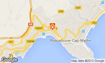 Map Roquebrune Cap Martin Apartment 51355