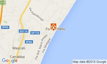 Map Fondachello di Mascali Apartment 77700