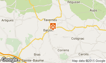 Map Barjols Apartment 96501