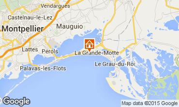 Map La Grande Motte Apartment 6039