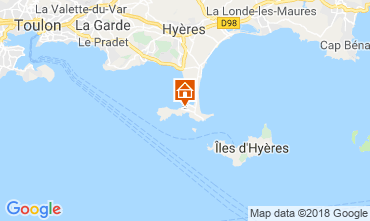 Map Hyères Apartment 116393