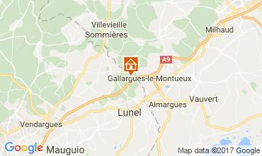 Map La Grande Motte Villa 104733