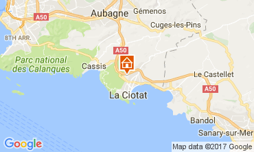 Map La Ciotat Apartment 88233