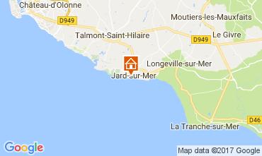 Map Jard sur mer Apartment 108125