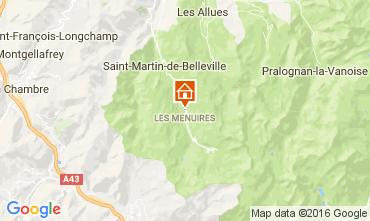 Map Les Menuires Apartment 107057