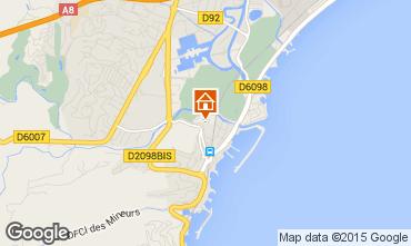 Map Mandelieu la Napoule One-room apartment 54445
