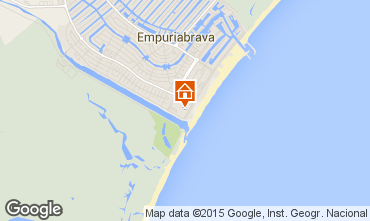 Map Empuriabrava One-room apartment 94548