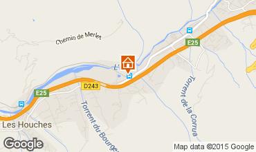 Map Chamonix Mont-Blanc Apartment 93214