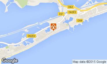 Map Palavas-les-Flots Apartment 67534