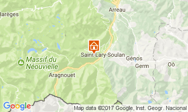 Map Saint Lary Soulan Apartment 112164