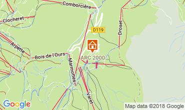 Map Les Arcs Apartment 220
