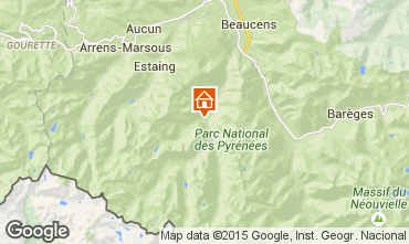 Map Cauterets Apartment 4098