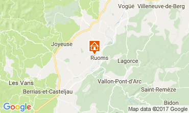 Map Vallon-Pont-D'Arc Vacation rental 112484