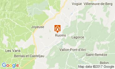 Map Vallon-Pont-D'Arc Vacation rental 112484