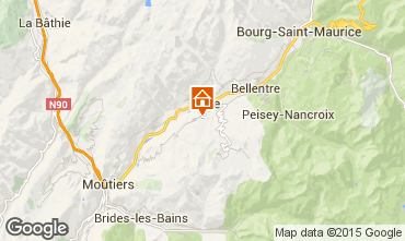 Map La Plagne Vacation rental 15732