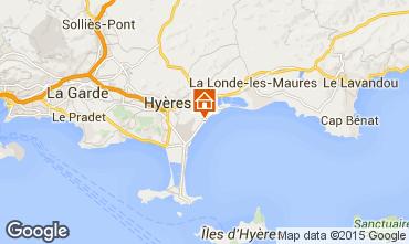 Map Hyères Apartment 5818