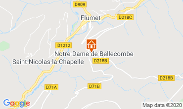 Map Les Saisies One-room apartment 112090