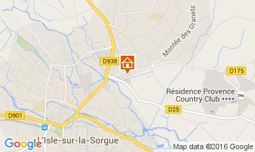 Map Isle sur la Sorgue Apartment 104382