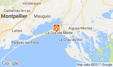 Map La Grande Motte Apartment 108883