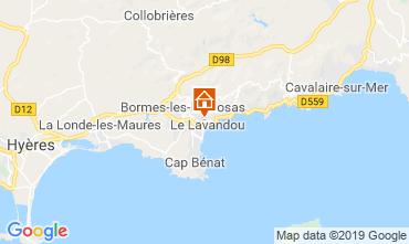 Map Le Lavandou One-room apartment 68262
