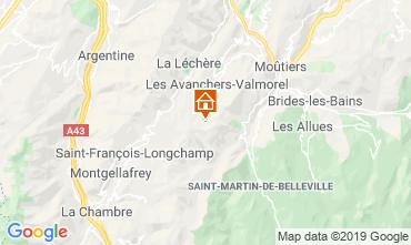 Map Valmorel Apartment 110665