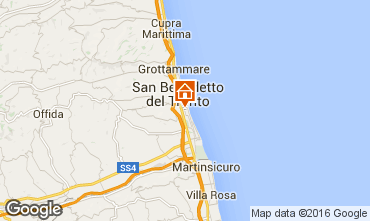 Map San Benedetto del Tronto Apartment 103205