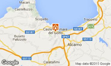 Map Castellammare del Golfo Apartment 57307