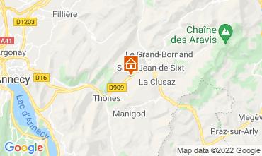 Map La Clusaz Apartment 72766