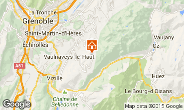 Map Chamrousse One-room apartment 763
