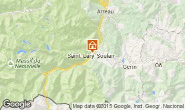 Map Saint Lary Soulan Apartment 4489