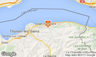 Map Evian les Bains Apartment 92987