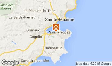 Map Saint Tropez Apartment 18756
