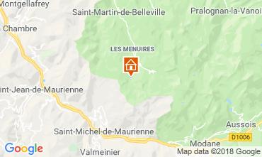 Map Les Menuires One-room apartment 1628