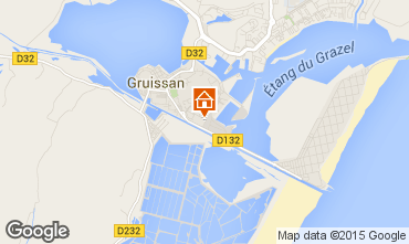 Map Gruissan One-room apartment 44744