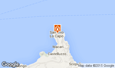 Map San Vito lo Capo One-room apartment 101712