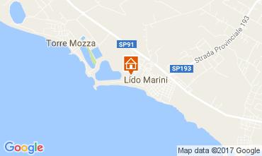 Map Lido Marini Apartment 110633