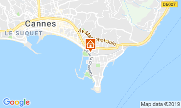 Map Cannes Apartment 45923