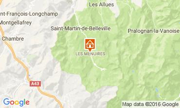 Map Les Menuires Apartment 107146