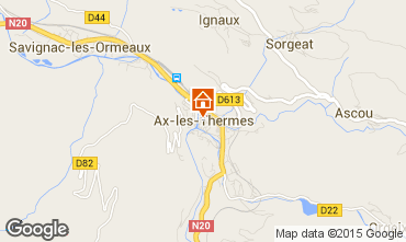 Map Ax Les Thermes Apartment 95670