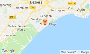 Map Valras-Plage Villa 117077