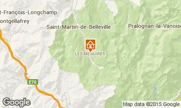 Map Les Menuires Apartment 1605