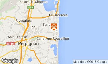Map Argeles sur Mer Vacation rental 8683