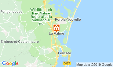 Map La Palme Vacation rental 118676