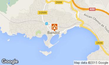 Map Bandol One-room apartment 25481