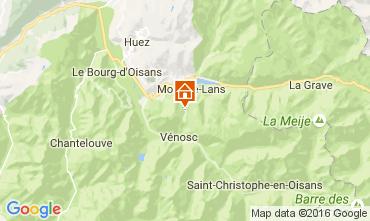 Map Les 2 Alpes Apartment 106447