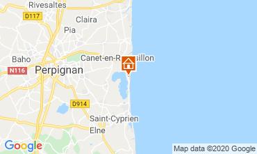 Map Canet-en-Roussillon Apartment 34210