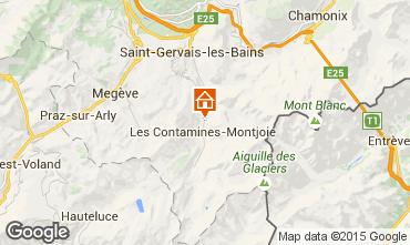Map Les Contamines Montjoie One-room apartment 83214