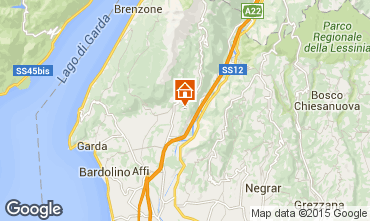 Map Caprino Veronese Apartment 69089