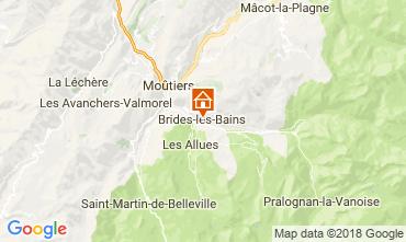 Map Brides Les Bains Apartment 114912